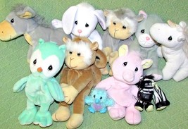 Vintage TENDER TAILS Precious Moments 10 Bean Plush Lot Animals 1997-199... - $23.36