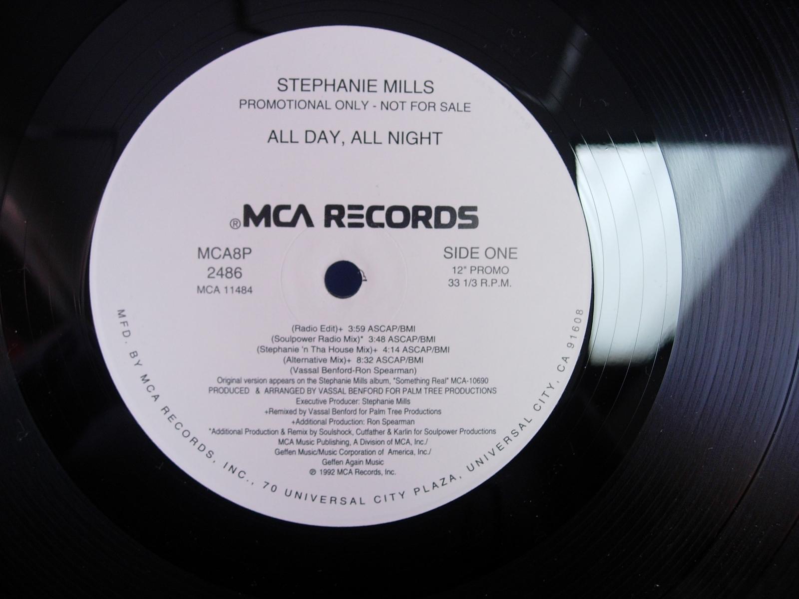 "Stephanie Mills - All Day, All Night - MCA 2486 - 12"" Single"