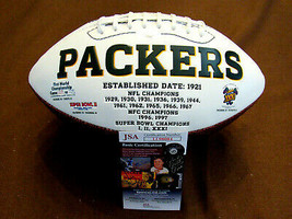 BART STARR GREEN BAY HOF QUARTERBACK SIGNED AUTO PARKERS SB STAT FOOTBAL... - $395.99