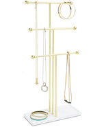 Umbra Trigem Hanging Organizer – 3 Tier Table Top Necklace Holder, Box D... - $29.99+