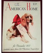 Springer Spaniel Dog 1937 Cover Illustration Puppy Present  Holiday Art ... - $14.99
