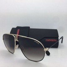 e9ad68bd2e7f4 New Sunglasses CARRERA BOUND 2M2HA 62-13 150 Black-Gold Aviator w Brown