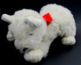"""White Terrier Plush with Red Bow & Red Heart Stuffed Animal Toy 14"""" Commonwealth - $12.86"""