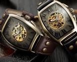 watch men mechanical wrist watches mens fashion skeleton retro bronze watch clock thumb155 crop