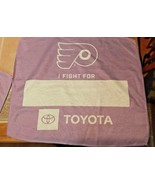 Two 2 PHILADELPHIA FLYERS I Fight For Cancer Hockey Purple Towel Collect... - $8.99