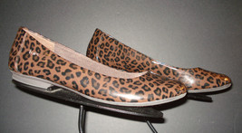 Born Patent Leather Leopard Print Flats Sz. 40.5 / 9 US EXCELLENT! - $29.32