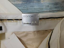 Express Editor Dress Pants 6 x 32 Women's White Straight Stretch          (D-85) image 3