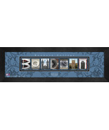 Personalized Bowdoin University Campus Letter Art Framed Print - $39.95