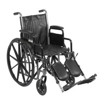 Drive Medical Silver Sport 2 With Desk Arms and Leg Rests 18'' - $181.60