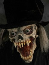 Skull Mask Old Man Creature Top Hat Gray Hair Scary Creepy Eerie Costume... - $99.42 CAD