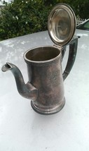 1800 antique hotel silver plate teapot barclay - $187.00