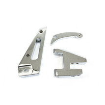 A-Team Performance Small Block Short Water Pump Alternator Bracket, Chrome