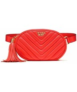 Victoria's Secret V-Quilt Oval City Belt Bag Color Coral NWT - $42.06
