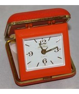 Seth Thomas Orange Travel Alarm Clock Wind Up Retro Fold Up Glow in the Dark - $22.15