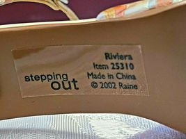 2002 JUST THE RIGHT SHOE RAINE STEPPING OUT COLLECTION RIVIERA 25310 W COA Box image 7