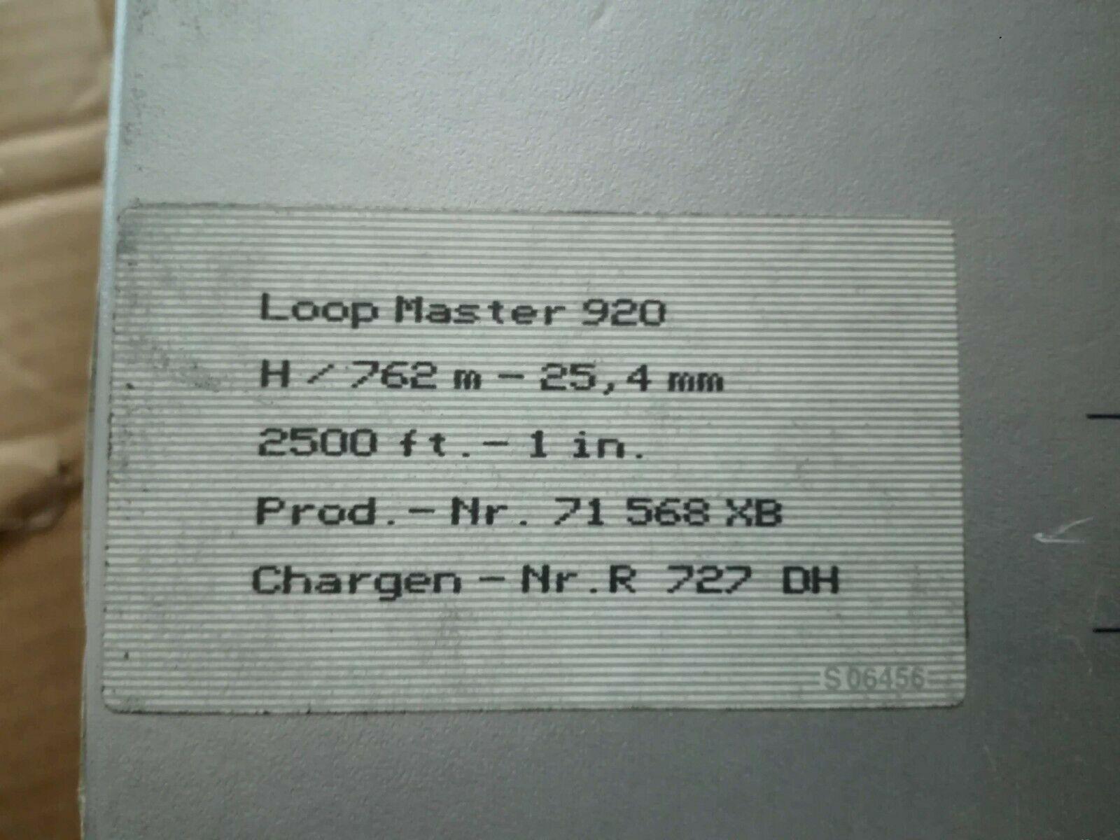 "NOS New Old Stock BASF Loop Master 920 1"" Studio Chrome Reel Tape ULTRA RARE!!!"
