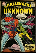 CHALLENGERS OF THE UNKNOWN #12 GIANT ALIEN COVER 1959 VG/FN - $62.08