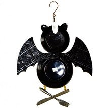 "Black Bat ""Come in for a Bite"" Halloween Enamel Plate Hanging Sign Decor image 2"