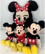 4 Pc. Disney 2 Mickey Mouse Minnie Mouse Plush Dolls Emoji Pillow Collec... - $39.59