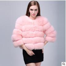 Women Winter fashion Designer Thick Faux Mink Coat image 9