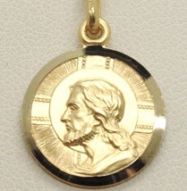 SOLID 18K YELLOW GOLD JESUS CHRIST REDEEMER 17 MM MEDAL, PENDANT, MADE I... - $357.00