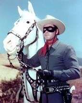 "Clayton Moore As ""The Lone Ranger"" With His Horse ""Silver"" - 8X10 Photo... - $14.00"