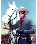 """Clayton Moore As """"The Lone Ranger"""" With His Horse """"Silver"""" - 8X10 Photo... - $14.00"""