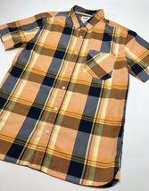 Men's Levi's Orange | Navy | Yellow Plaid S/S Button Down Shirt             - $69.00
