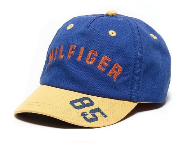 Tommy Hilfiger Kids Logo Baseball Cap Yellow/Blue (8 - 10 Years)  Hat Adjustable
