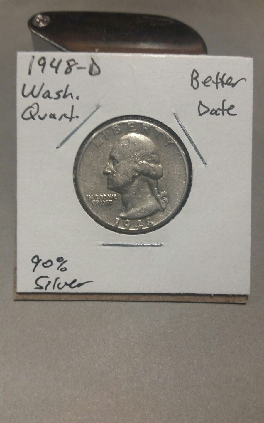 Primary image for 1948- D Washington Silver Quarter!!!  Better Date!!! 90% Silver!!!