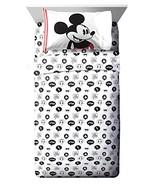 Jay Franco Disney Mickey Mouse Jersey White 3 Piece Twin Sheet Set - $29.99