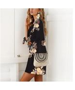 ITCQUALITY WOMEN SUMMER DRESS FLORAL STYLE PRINT CHIFFON BEACH LOOSE MIN... - $90.00