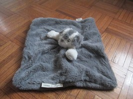 Blankets and Beyond Gray Puppy Dog Security Blanket Gray Grey White Plus... - $54.64