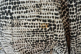 Calvin Klein Woman Top Tunic 2X Plus Animal Print CK Roll Tab Sleeves NWT image 3