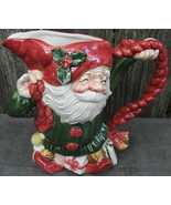 "Fitz And Floyd Old World Christmas Elves Pitcher 1 1/2 Qt 9 1/2"" Tall - $42.00"