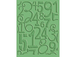 Provo Craft Cuttlebug Embossing Folder Number Collage #37-1639