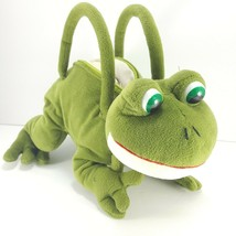 "Russ Berrie Frizby FROG Hand Bag Purse Stuffed Animal Plush #24848 13"" L... - $22.27"
