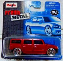 2009 MAISTO Metallic Red HUMMER H2 Fresh Metal DIE CAST 15044 RARE RHTF ... - $22.99