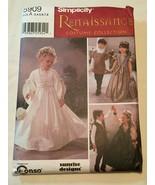 Simplicity 5909 Renaissance Child's Wedding Costumes Size A (3,4,5,6,7,8... - $15.83