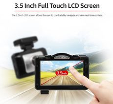 "Lukas LK-9370 Blackbox Dash Camera 2CH Full HD Wi-Fi 3.5""LCD Dual 64Gb+8Gb+GPS image 7"
