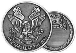 2ND BATTALION RANGER ARMY  SILVER 1.75 CHALLENGE COIN - $16.24