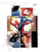 Original vintage 1996 Daredevil 357 page 4 Marvel Comics color guide art... - $99.50