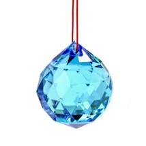 """Aqua Feng Shui Suspendus Boule de Cristal 1.5 """" 40mm Sphère Prism Turquoise - $5.89"""