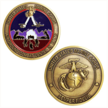 "USMC MARINE CORPS 29 PALMS AIR GROUND COMBAT CENTER 1.75""  CHALLENGE COIN - $18.04"