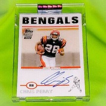 NFL CHRIS PERRY BENGALS AUTOGRAPHED 2004 TOPPS SIGNATURE EDITION RC /999... - $1.99