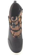 Cat & Jack Boys' Black Brown Ivan Thermolite Zippered Winter Boots NWT image 3