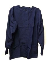 Scrub Jacket Dilly Uniform Encompass 5XL Navy Blue Round Neck Unisex War... - $21.31