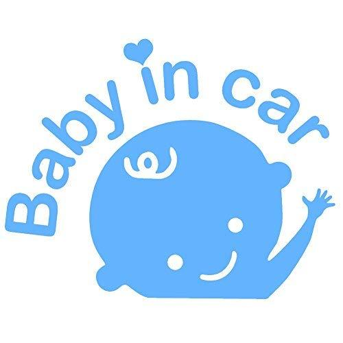 "Primary image for BABY IN CAR V1 Vinyl Decal - size: 6.5"", color: LIGHT BLUE - Windows, Walls, Bum"