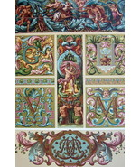BAROQUE Decorative Painting Architecture Ornaments- A. RACINET Color Lit... - $30.60
