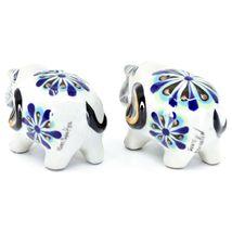 Ceramic Painted Elephant Salt & Pepper Shaker Set Shakers Handmade in Guatemala image 3